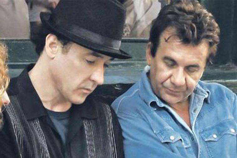 El actor con el director argentino Alejandro Agresti