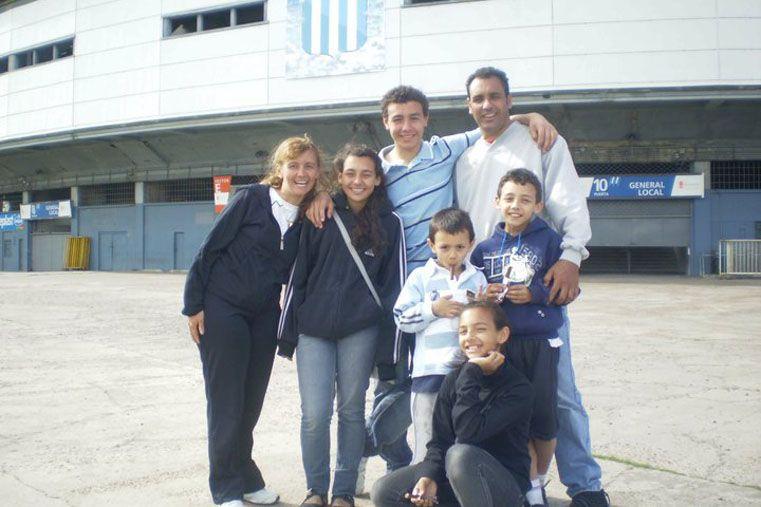 Incondicionales. La familia es un pilar fundamental. Respaldaron desde un principio en el recorrido de David Correa.