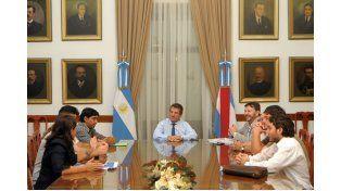 Reunión con Urribarri en marzo de 2011. (Foto: DGIP)