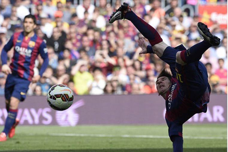 El festejo de Messi en las redes sociales