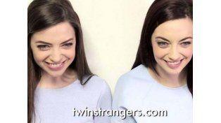Encontró a una persona idéntica a ella gracias a Internet