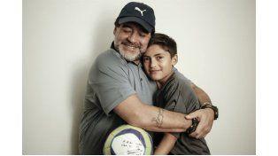 Maradona le pidió perdón al nene que agredió en el Partido por la Paz