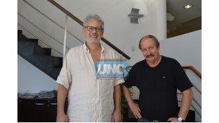 Daniel Rochi y Mario Martegani en la Redacción de UNO.