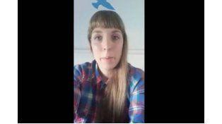 María Celeste Cardillo denunció vía Facebook el hecho.  Foto: Captura video