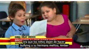 Un chico adelantó su carta y le pidió a Papá Noel que frene bullying contea su hermana