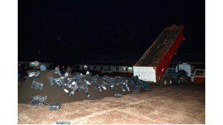 Interceptaron un camión con más de 6 toneladas de marihuana que traían a Paraná
