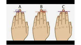 ¿Sabías que la longitud de los dedos puede revelar tu tipo de personalidad?