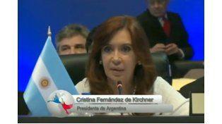 Cristina: Resulta ridículo considerar a cualquiera de nuestros países una amenaza
