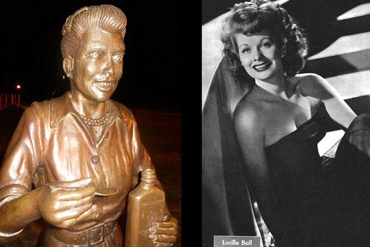 Efigie de la célebre actriz Lucille Ball