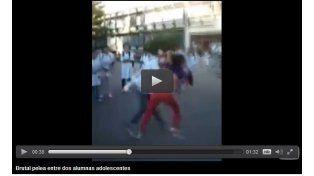 Brutal pelea entre dos alumnas de una escuela de Nogoyá