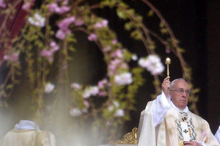 Pascua. El Papa alertó sobre la situación internacional. Foto: Télam