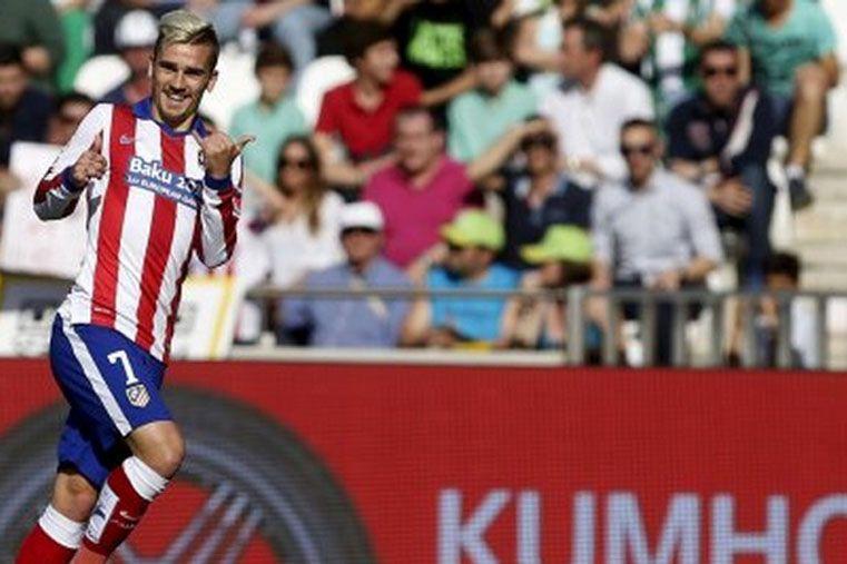 El Alético Madrid de Simeone venció sin despeinarse al Córdoba y se adueñó del tercer lugar. Foto:  Playfutbol