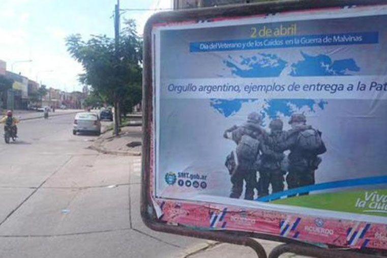 Polémica en Tucumán por un afiche en homenaje a los combatientes de Malvinas
