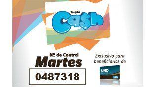 Los números de la Tarjeta Cash del 30 de marzo al 3 de abril