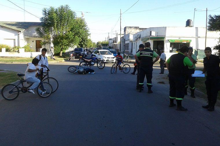 Motociclista sufrió fractura en accidente de tránsito