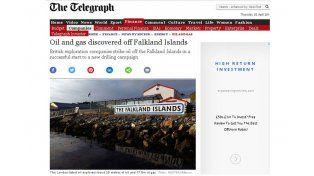 Diarios británicos anunciaron el descubrimiento de petróleo y gas en las islas