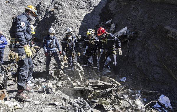 Hallaron la segunda caja negra del avión de Germanwings que se estrelló en los Alpes