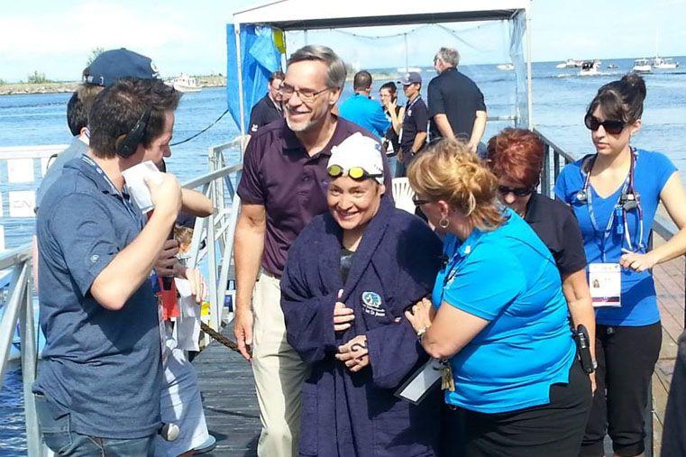 Experiencia. La nadadora santafesina ya sabe lo que es nadar en otras aguas. Compitió en Canadá en más de una oportunidad y también en suelo europeo.