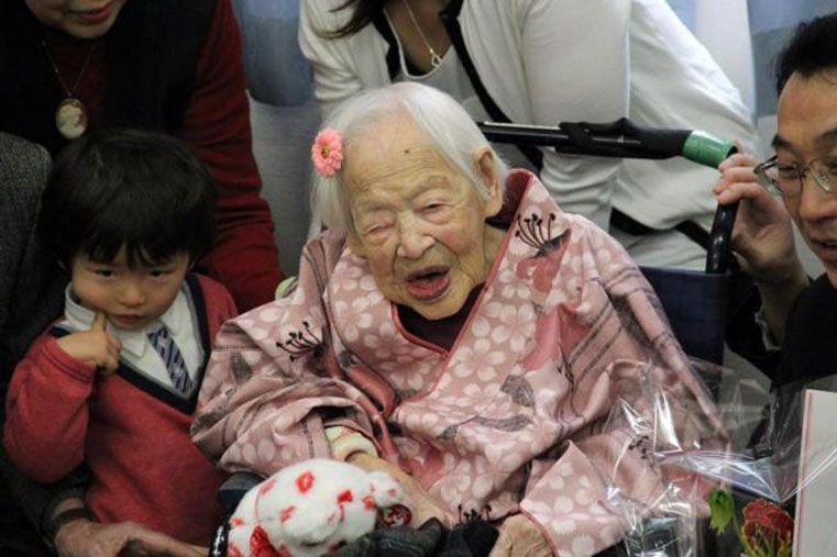 Murió la persona más vieja del mundo, una japonesa de 117 años