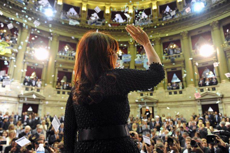 Cristina inaugura el 133º período de sesiones ordinarias