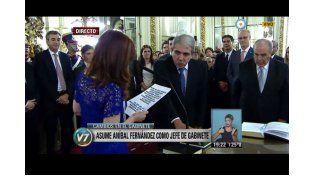 La Presidenta le tomó juramento a los funcionarios Fernández, De Pedro y Gollán