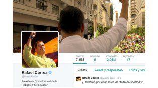 Correa respaldó a Cristina tras la decisión de Rafecas: Se acabo la farsa
