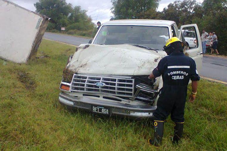 Dos accidentes con camiones en el mismo lugar