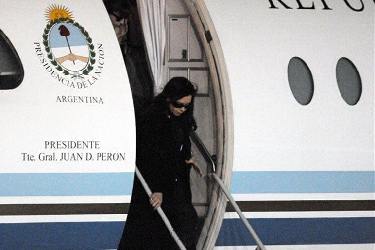 La Presidenta volvió de Santa Cruz y se trasladó a Olivos