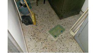 Goteras en el hospital San Roque