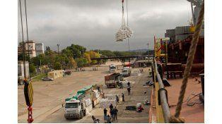 Partieron 13.500 toneladas de arroz con destino a Irak, desde Concepción del Uruguay