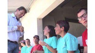 Sergio Massa en Mar del Plata. (Captura de video)