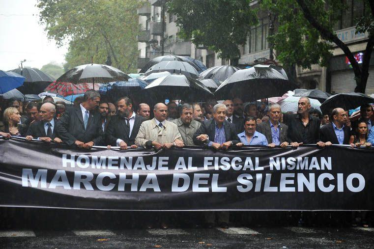 Repercusiones. La marcha de los fiscales en memoria de Nisman fue criticada por la Presidenta de la Nación.