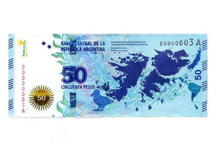 El nuevo billete de $50 con motivo de las Islas Malvinas