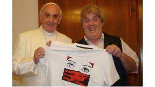 El Papa con Vera.