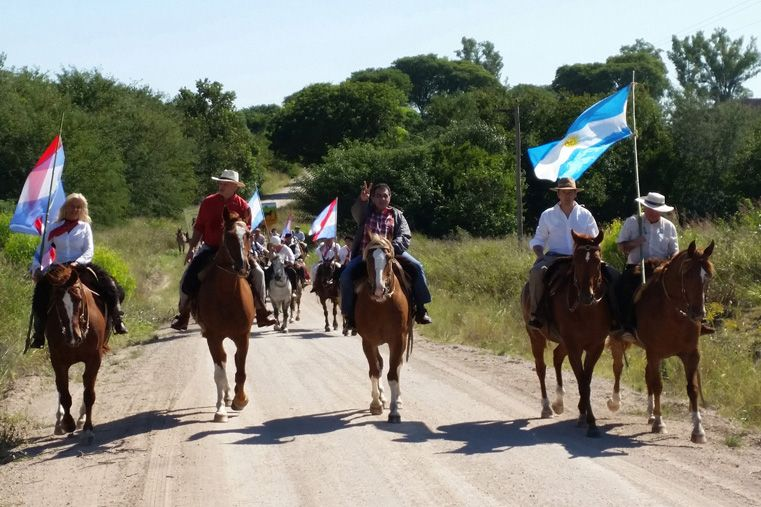 Cabalgata. El vicegobernador unió el tramo entre la Picada y el Espinillo. Foto Gentileza/Campo en Acción