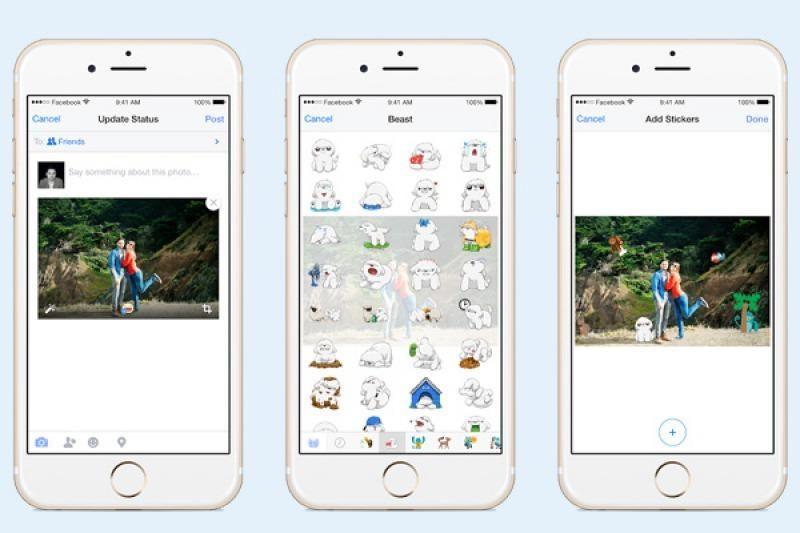 Facebook incorporó stickers en las imágenes