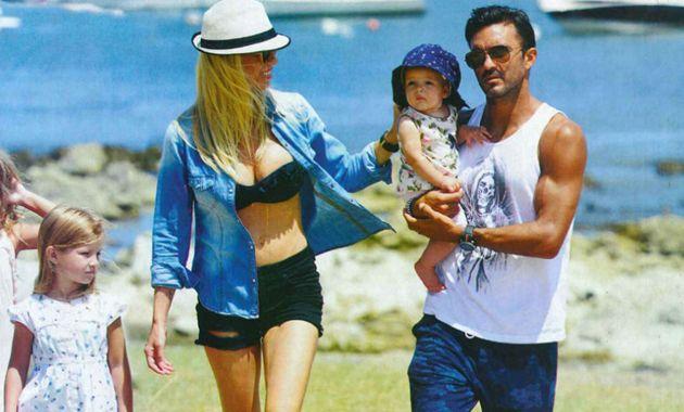 Nicole Neuman y Poroto Cubero, de vacaciones en familia
