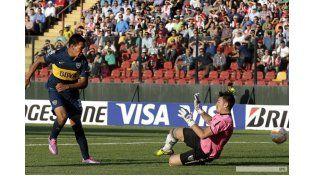 Boca pisó fuerte en su debut copero frente a Palestino en Chile