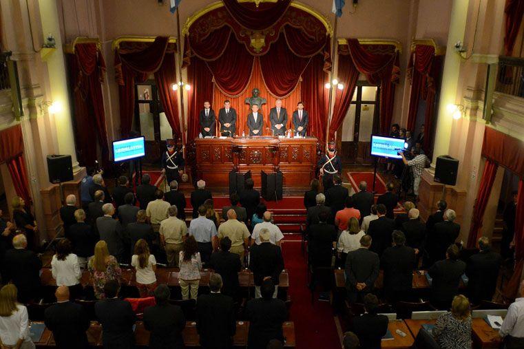 En Diputados. El mensaje fue sin público en la Cámara baja. Antes se había realizado la sesión preparatoria.