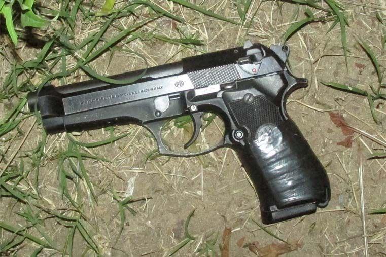 La pistola encontrada.