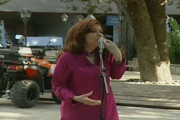 Cristina Fernández inauguró obras en El Calafate