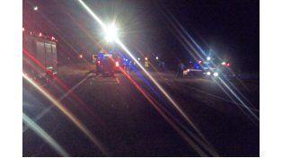 Impactante choque de camiones en la ruta 12