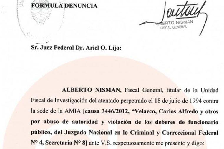 Denuncia de Alberto Nisman
