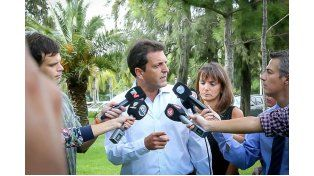 El diputado nacional Sergio Massa estuvo acompañado por su esposa Malena Galmarini.