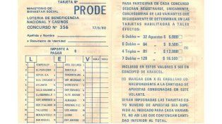 El Prode histórico se puso en práctica el 5 de noviembre de 1971 y concluyó en mayo de 1998.