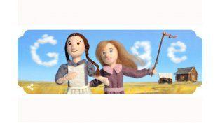 Google le dedicó un doodle a Laura Ingalls Wilder a 148 años de su nacimiento