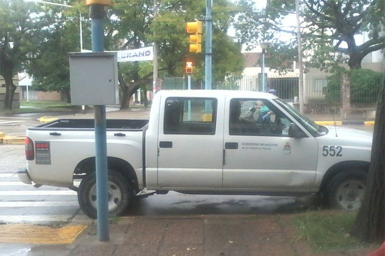 Mal estacionados, un problema