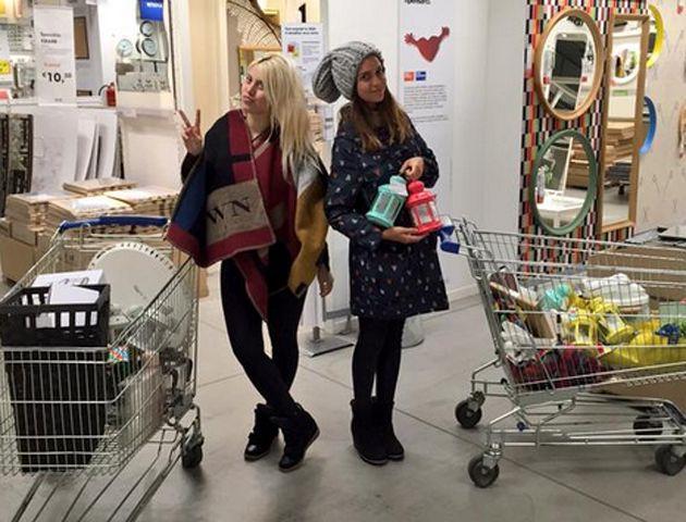 Francesca Icardi de shopping por primera vez