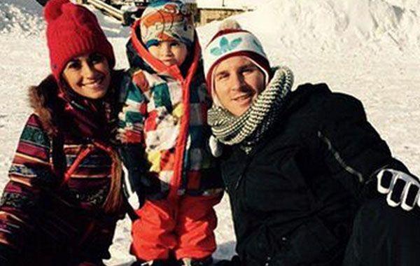 Messi, Antonella y Thiago felices en el centro de esquí de Andorra