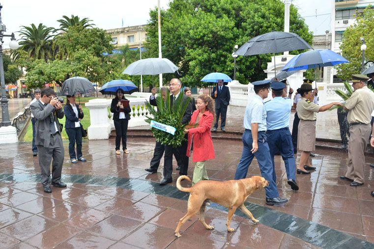 Se desarrollaron actos para conmemorar las batallas de San Lorenzo y Caseros